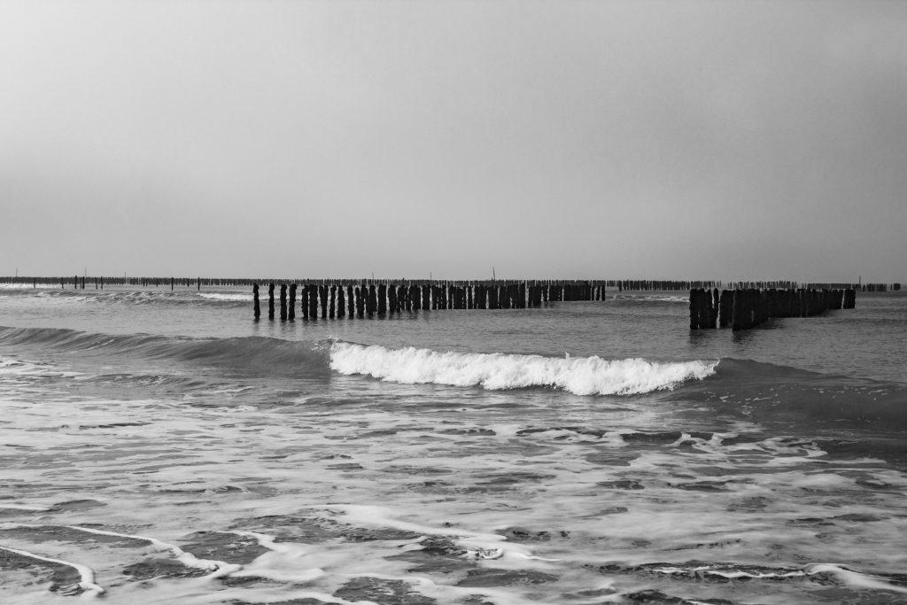 Bouchots, ciel gris